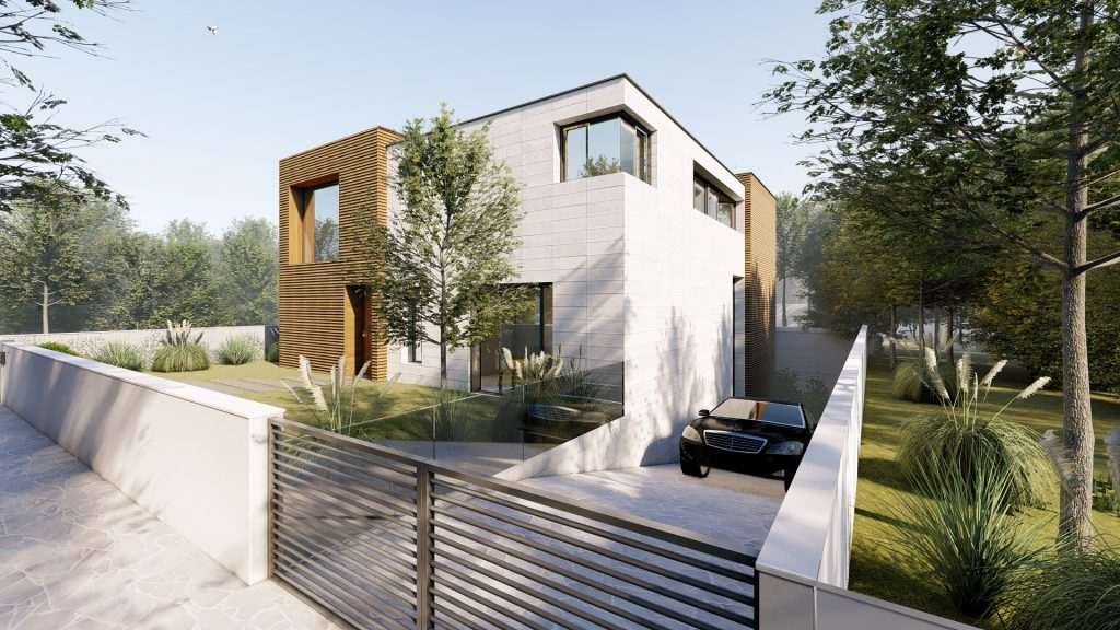 Villa Alps fachada casa pasiva
