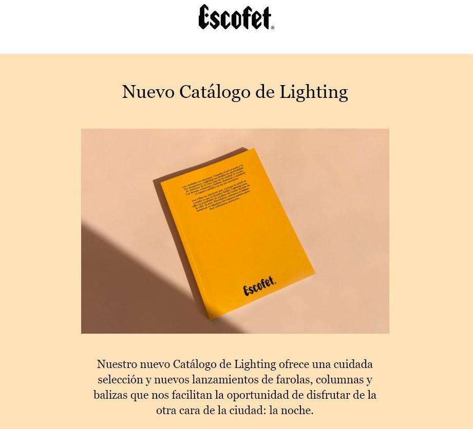 Nuevo Catalogo iluminación Barcelona